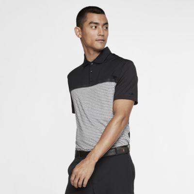 Nike Dri-FIT Tiger Woods Vapor csíkos, galléros férfi golfpóló