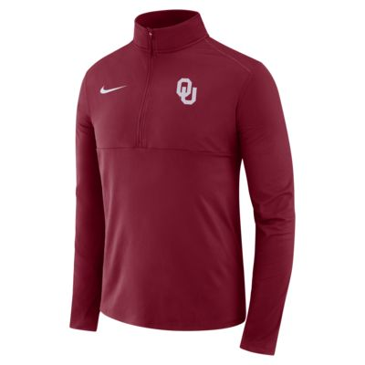 Nike College Therma (Oklahoma) Men's Long-Sleeve 1/2-Zip Top