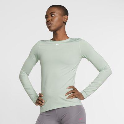 Damska koszulka z siateczki z długim rękawem Nike Pro