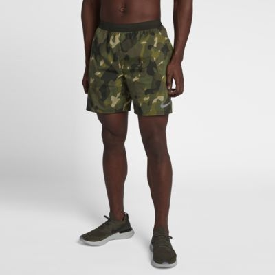 Nike Distance Hardloopshorts met camouflageprint voor heren (18 cm)