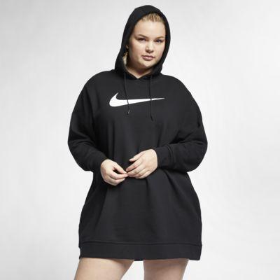 Nike Sportswear Swoosh Vestido de tejido French terry (Talla grande) - Mujer