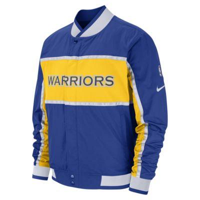 เสื้อแจ็คเก็ต NBA ผู้ชาย Golden State Warriors Nike Courtside
