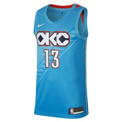 Paul George City Edition Swingman (Oklahoma City Thunder) Men's Nike NBA Connected Jersey
