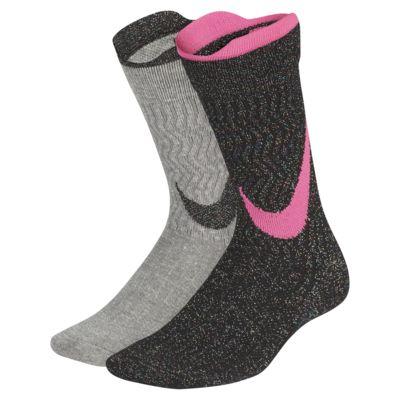 Nike Lightweight Kids' Swoosh Crew Socks (2 Pairs)