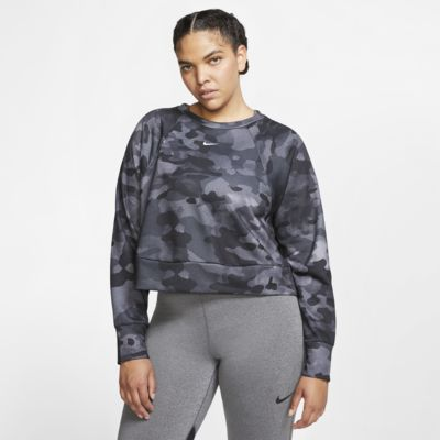 Nike Dri-FIT Women's Fleece Camo Training Top (Plus Size)