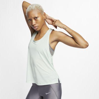 Nike Breathe Miler-løbetanktop til kvinder