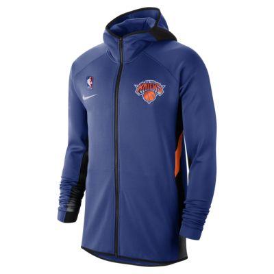 Мужская худи НБА New York Knicks Nike Therma Flex Showtime