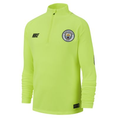 Manchester City Dri-FIT Squad Drill Langarm-Fußballoberteil für ältere Kinder