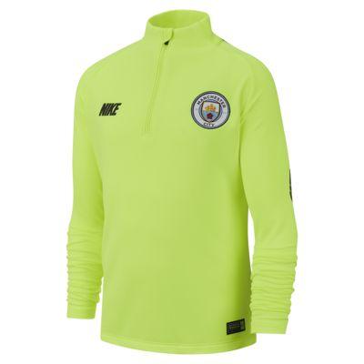 Top de fútbol de manga larga para niños talla grande Manchester City FC Dri-FIT Squad Drill