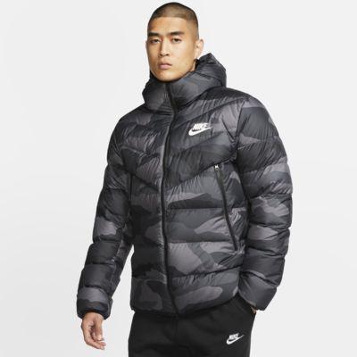 Nike Sportswear Down Fill Windrunner Baskılı Kapüşonlu Ceket