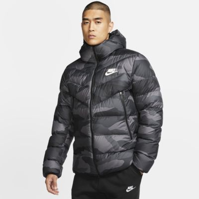 Nike Sportswear Down-Fill Windrunner Printed Hooded Puffer Jacket