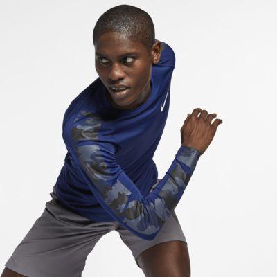 Camisola de manga comprida camuflada Nike Pro para homem