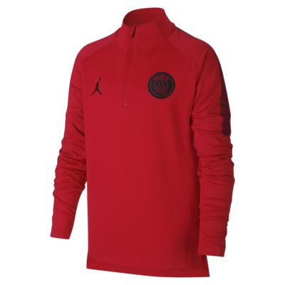 Koszulka piłkarska dla dużych dzieci z zamkiem 1/4 Paris Saint-Germain Squad