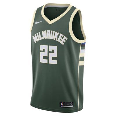 Maglia Nike NBA Connected Khris Middleton Icon Edition Swingman (Milwaukee Bucks) - Uomo