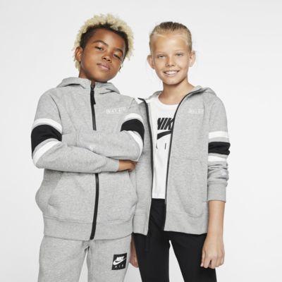Μπλούζα με κουκούλα και φερμουάρ Nike Air για μεγάλα παιδιά