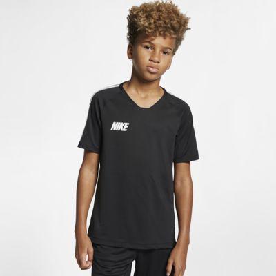 Κοντομάνικη ποδοσφαιρική μπλούζα Nike Breathe Squad για μεγάλα παιδιά