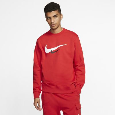Pánská mikina Nike Sportswear s kulatým výstřihem a logem Swoosh