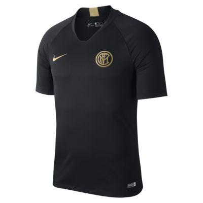 Prenda para la parte superior de fútbol de manga corta para hombre Nike Breathe Inter Milan Strike