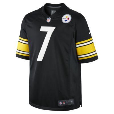 Camiseta oficial de fútbol americano de local para hombre de NFL Pittsburgh Steelers (Ben Roethlisberger)
