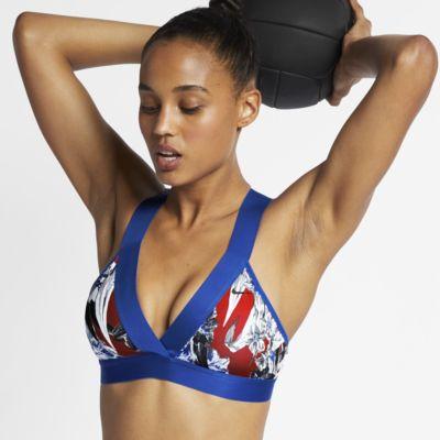 Sujetador deportivo con estampado floral de sujeción ligera para mujer Nike Indy