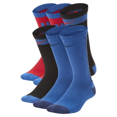 Nike Everyday Cushioned Big Kids' Crew Socks (6 Pairs)
