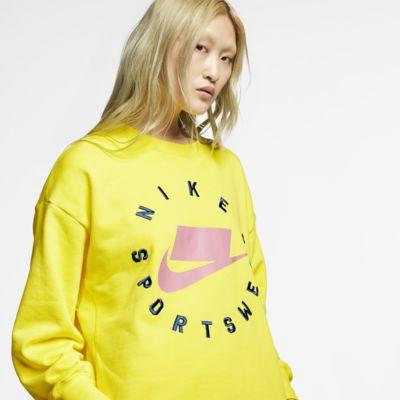 Tröja med rund hals i frotté Nike Sportswear NSW för kvinnor