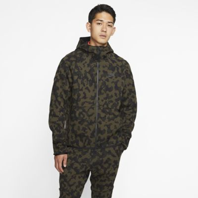 Sweat à capuche imprimé à zip Nike Sportswear Tech Fleece pour Homme