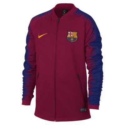 FC Barcelona Anthem Older Kids' Football Jacket