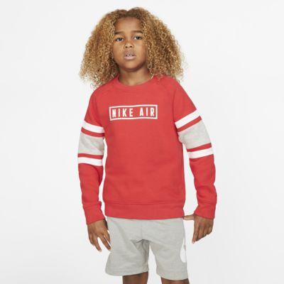 Nike Air Fleece-Rundhalsshirt für jüngere Kinder
