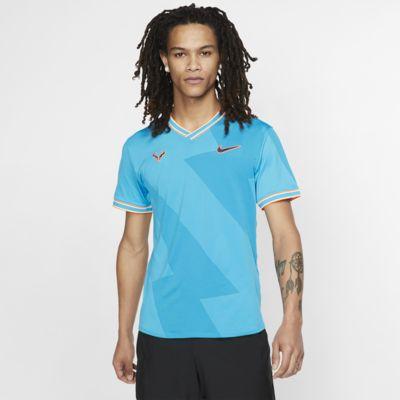 Ανδρική κοντομάνικη μπλούζα τένις NikeCourt AeroReact Rafa