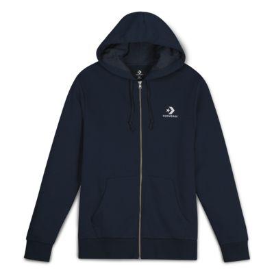 Converse Star Chevron Embroidered Men's Full-Zip Hoodie