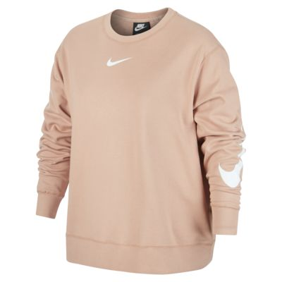 Nike Sportswear Swoosh Women's Long-Sleeve French Terry Crew (Plus Size)