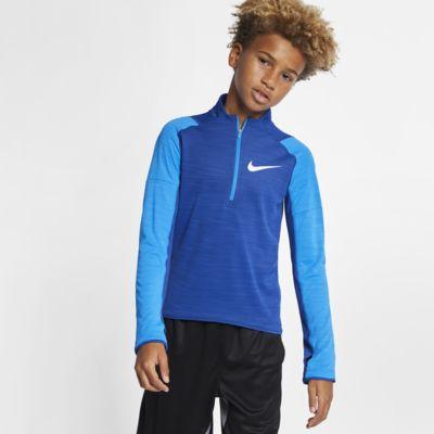 Nike Dri-FIT Langarm-Laufoberteil mit Halbreißverschluss für ältere Kinder (Jungen)