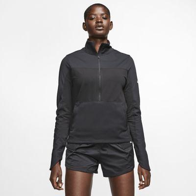 Женская беговая футболка с молнией на половину длины Nike Repel