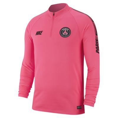 Camisola de futebol de manga comprida Paris Saint-Germain Dri-FIT Squad Drill para homem
