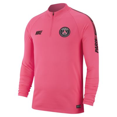 Långärmad fotbollströja Paris Saint-Germain Dri-FIT Squad Drill för män