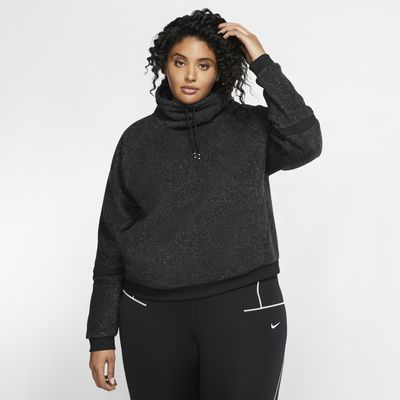 Nike Therma langermet treningsoverdel i fleece til dame (Plus Size)