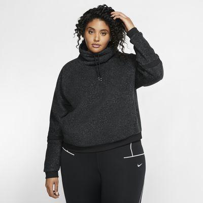 Nike Therma Part superior de màniga llarga de teixit Fleece d'entrenament (talles grans) - Dona