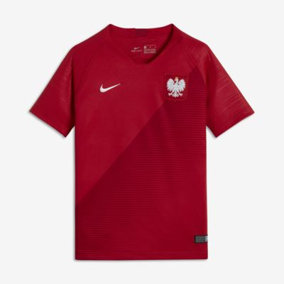 2018 Polen Stadium Away Fußballtrikot für ältere Kinder
