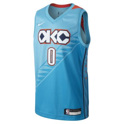 Maillot Nike NBA Russell Westbrook City Edition Swingman (Oklahoma City Thunder) pour Enfant plus âgé