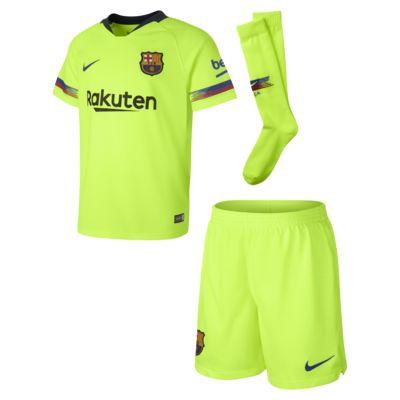 Kit de fútbol para niños talla pequeña de visitante Stadium del FC Barcelona 2018/19