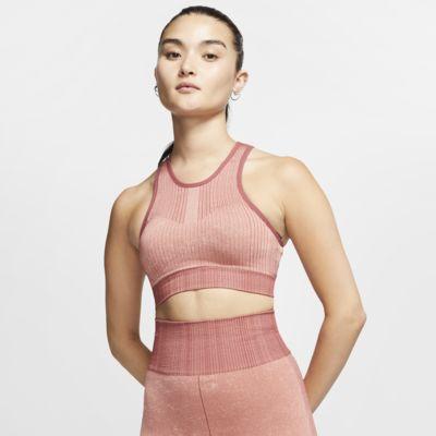 Bezszwowy damski stanik sportowy zapewniający lekkie wsparcie Nike City Ready