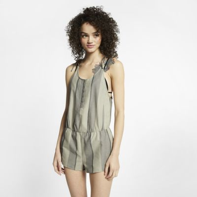 Hurley Women's Striped Tie Romper