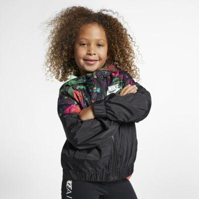 Nike Sportswear Windrunner Little Kids' Floral Jacket