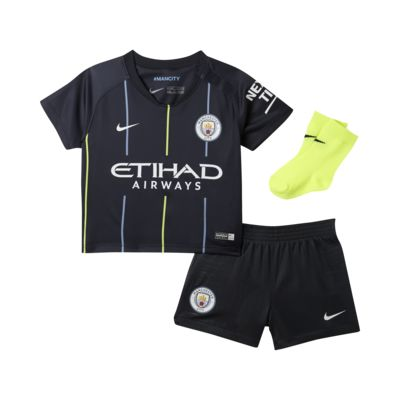 2018/19 Manchester City FC Stadium Away Baby and Toddler Football Kit