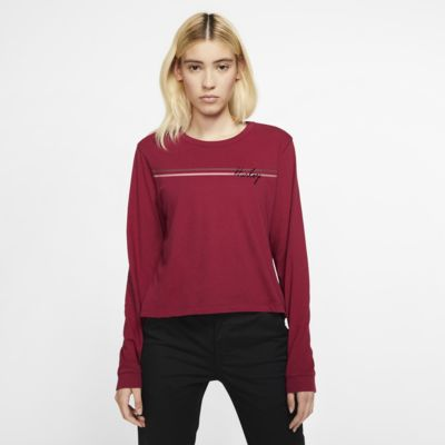 Hurley Line Bars Perfect Langarm-T-Shirt für Damen