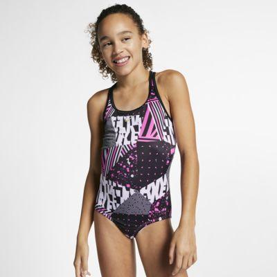 Nike Mash Up Racerback Big Kids' (Girls') One-Piece Swimsuit