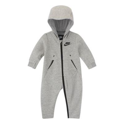 Nike Tech Fleece-heldragt med hætte til babyer (0-9 M)