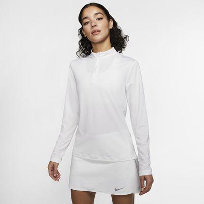 Женская футболка для гольфа с длинным рукавом и молнией на половину длины Nike Dri-FIT UV Victory