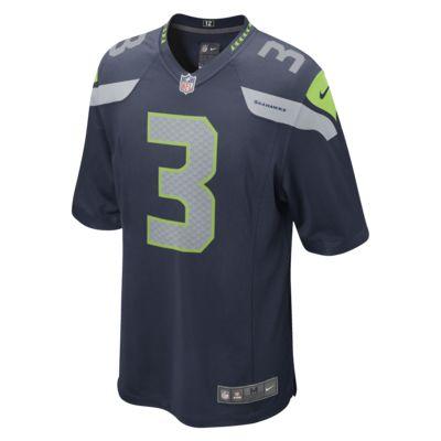 Мужская джерси для американского футбола для игры на своем поле NFL Seattle Seahawks (Russell Wilson)